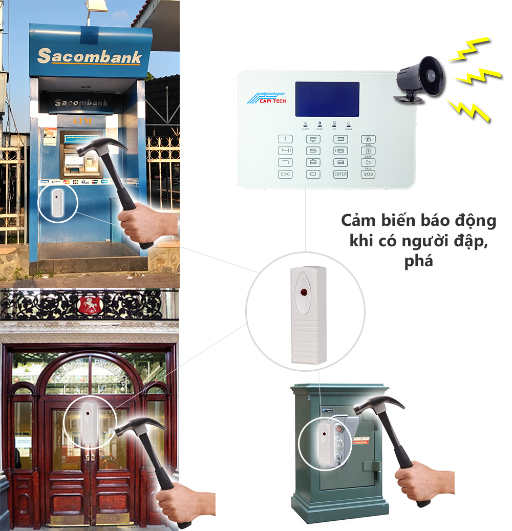 thiết bị chống trộm cảm biến rung